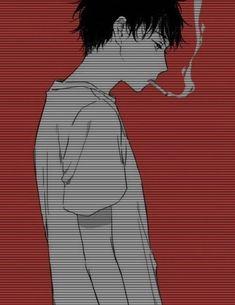 A kawaii sad boi M Anime, Dark Anime, Anime Art, Japanese Aesthetic, Aesthetic Anime, Character Art, Character Design, Sad Art, Cute Anime Guys