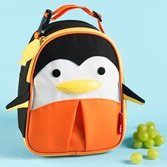 Kids Lunch Bags: Childrens Penguin School Lunch Bags in Backpacks
