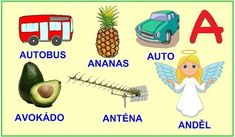 ABECEDA PÍSMENO A Kids Learning Activities, Alphabet, Education, Reading, Logos, School, Google, Ants, Speech Language Therapy