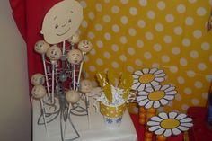 Caillou cake pops