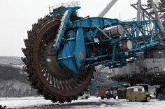Colossal: The world's biggest saw can be found at the world's biggest coal excavation site -the Bogatyr Mine near the city of Ekibastuz in Kazakhstan