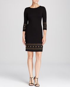 Karen Kane Stud Trim Dress | Bloomingdale's