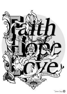 FaithHopeLove by Joshua Steen, via Behance