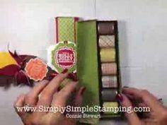 VIDEO HOW TO - Simply Simple HERSHEY NUGGET GIFT BOX by Connie Stewart