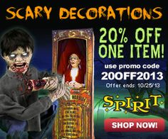 Spirit Halloween 20% Off Coupon. Good for decorations or costumes.