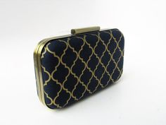 bridesmaids gift navy and gold navy weddings by VincentVdesigns