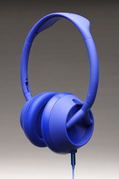NIXON TROOPER 3-BUTTON MIC HEADPHONES @ Jack Threads  //  blue!