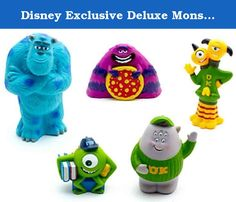 Disney Exclusive Deluxe Monsters Inc Monsters University Figure Set Bath Pool Toys with Mike, Sulley, Art and More!. These toys are great for any Monsters Inc fan and also make a really unique gift idea! Do not miss out on these fun Disney Exclusive Monsters Inc University Bath Toys!.