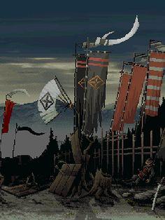 [JFS][GIF] Shogun war. Unknown artist
