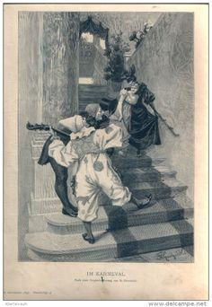 """Im Karneval  - Druck, entnommen   aus """"die Gartenlaube"""", 1897"""