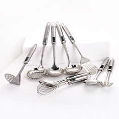 9Piece Stainless Steel Kitchen Utensil Set >>> You can find more details by visiting the image link.