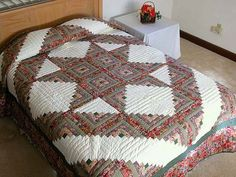 log cabin hidden star quilt | Log Cabin Star Quilt -- exquisite skillfully made Amish Quilts from ...