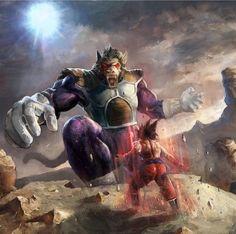 Great Ape Vegeta vs Goku