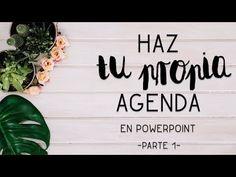 Crea tu propia AGENDA en PowerPoint - Parte 1-   El ático de Tijeras - YouTube