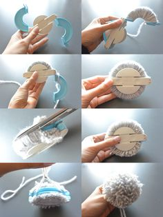 how to make pompom with clover pompom maker
