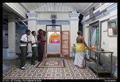 Worhipers and holy man, Sri Poyyatha Vinayagar Moorthi Temple. Malacca City, Malaysia