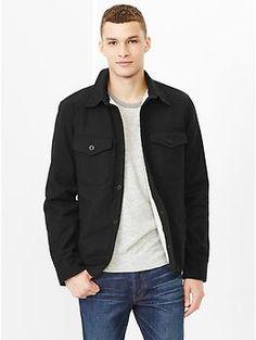 Sherpa-lined shirt jacket by Gap | Svpply | Pinterest