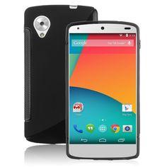 S-Line+Wave+Shape+Soft+TPU+Gel+Back+Protect+Case+Cover+Skin+Fr+LG+Google+Nexus+5+(+COLOR+BLACK