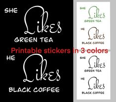 Printable Quotes, Printable Stickers, Printable Art, Printables, Coffee Love, Black Coffee, Love Stickers, Wall Stickers, Invites