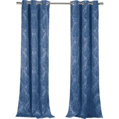 Lend a touch of sophistication to your living room or master suite with this elegant blackout curtain panel, showcasing an ornate damask motif.