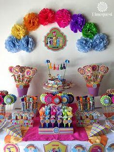 "My Little Pony / Birthday ""My Little Pony candy Party"" My Little Pony Cumpleaños, Fiesta Little Pony, Cumple My Little Pony, My Little Pony Friends, Little Pony Cake, My Little Pony Birthday Party, Little Poney, Rainbow Birthday Party, Birthday Parties"