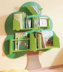 Book Tree by HABA -- like the combo of types of shelves