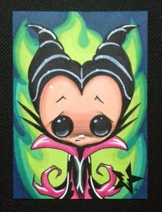 """Sugar Fueled Maleficent Sleeping Beauty ACEO"" (by Sugar Fueled)"