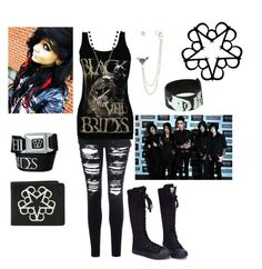 """Band Tag"" by reganbracey ❤ liked on Polyvore featuring Glamorous"