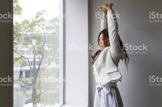 Business Woman, Stretching