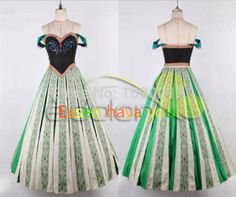 Hot Movie FROZEN Princess ANNA Cosplay Deluxe Coronation Dress Costume for cosplay Event Halloween Party Free Custom Made