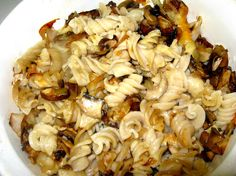 Pasta and Mushrooms from Bizzy Bakes