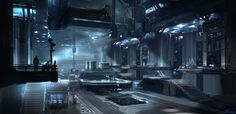 Halo 4 - Infinity hangar, sparth - nicolas bouvier on ArtStation at http://www.artstation.com/artwork/halo-4-infinity-hangar