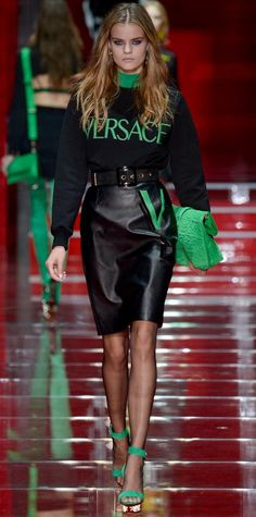 Runway Looks We Love: Versace - Fall/Winter 2015 from #InStyle
