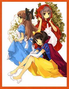 Tags: Anime, Suzumiya Haruhi no Yuuutsu, Suzumiya Haruhi, Asahina Mikuru, Nagato Yuki