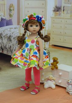 Hello Kitty Gumdrop - jumper, leggings, beret for Little Darling - Dianna Effner #DiannaEffner