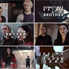 sometimes, being a brother is even better than being a superhero // sw + quicksilver