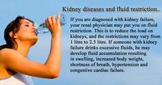 Kindey Disease and fluid restriction..