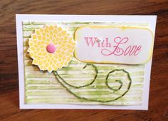 Handmade Paper With Love Greeting Card by Scrapbooker429 on Etsy, $4.25 https://www.etsy.com/listing/192453076/handmade-paper-with-love-greeting-card