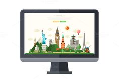 Traveling Website Template on Screen @creativework247