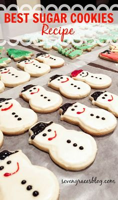 Seven Graces: Have a Very, Merry Christmas {& the Best Sugar Cookie Recipe}. THE BEST tried and true SUGAR COOKIES recipe that exists on Pinterest.