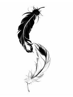 Disegno tattoo piume