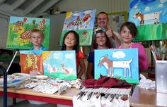 #summercourse #paintingforkids #Maastricht Me and my students