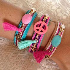 Summer Boho bracelets @ Kralenschatten.nl