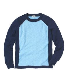 This Dusk Blue Color Block Sweater - Infant, Toddler & Boys by RUUM is perfect! #zulilyfinds