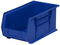 AkroMils 30234 Plastic Storage Stacking Hanging Akro Bin 15Inch by 5Inch by 5Inch Blue Case of 12 *** You can find out more details at the link of the image.