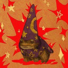 Your a wizard, Harry Arte Peculiar, Arte Sketchbook, Frog Art, Illustration Art, Illustrations, Cute Frogs, Hippie Art, Psychedelic Art, Aesthetic Art