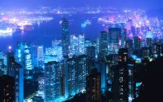 At night certain cities seem to take on a magic all their own. If you enjoy the scenic and colorful views of city lights then you will want to browse through the first in our series of Cities at Night Wallpaper collections. Cityscape Wallpaper, City Wallpaper, Landscape Wallpaper, Laptop Wallpaper, Wallpaper Desktop, Mobile Wallpaper, Hong Kong Architecture, China World, Midnight City