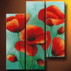 Resultado de imagen para cuadros de tulipanes tripticos