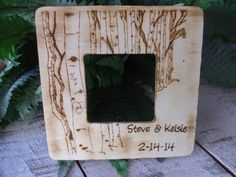 Hey, I found this really awesome Etsy listing at https://www.etsy.com/listing/171237994/rustic-wedding-wooden-frame-personalized