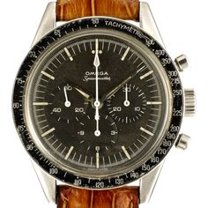 The Speedmaster ref. CK 2998 was the first Speedmaster to reach space with the Swiss astronaut Walter M. Schirra during the mission Sigma 7. The Omega Speedmaster was created in 1957 with motorsport in mind, the Speedy was the first wrist chrono to feature its tachymeter scale on the bezel instead of the dial for increased legibility and in 65 was chosen by NASA as its official chronometer in Space, 4 years later, now the Moonwatch was the first watch to be worn on the Moon, when, on 21 July…